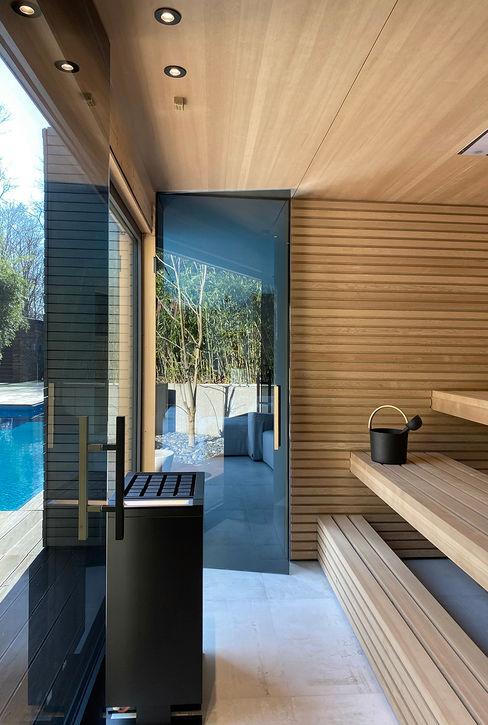 Sauna _i+d* Sauna Holz Schwarz