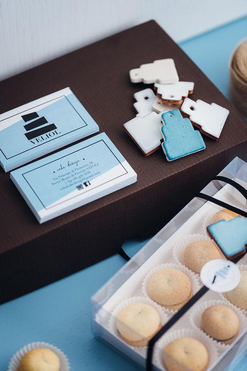 Stationery manuarino architettura design comunicazione Negozi & Locali commerciali in stile minimalista Ceramica Turchese