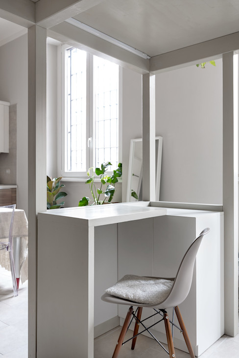 scrivania a scomparsa Lascia la Scia S.n.c. Studio in stile scandinavo Legno Grigio
