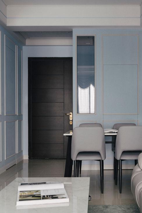 藍白記憶 八寶空間美學| BABODESIGN 經典風格的走廊,走廊和樓梯 Blue