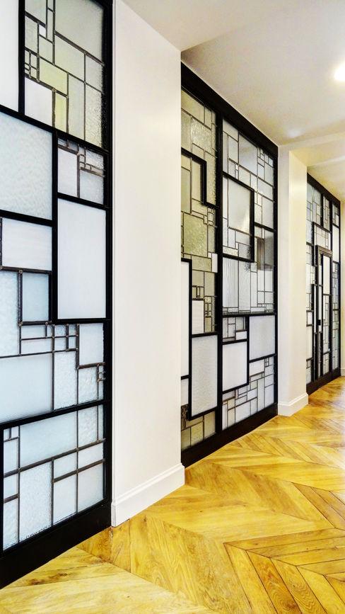 Cloison créative lumineuse ADN / ON-ME Light ON-ME Couloir, entrée, escaliers minimalistes Fer / Acier Blanc