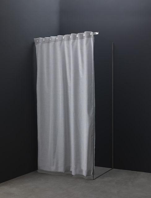 Tenda doccia in tessuto antimuffa e antimacchia AISI Design srl Bagno moderno Ferro / Acciaio Grigio