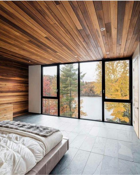 Casa singola fatta con containers navali. Green Living Ltd Camera da letto moderna Legno massello