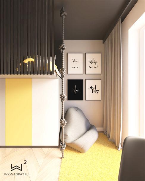 Wkwadrat Architekt Wnętrz Toruń Kamar tidur anak perempuan MDF Yellow