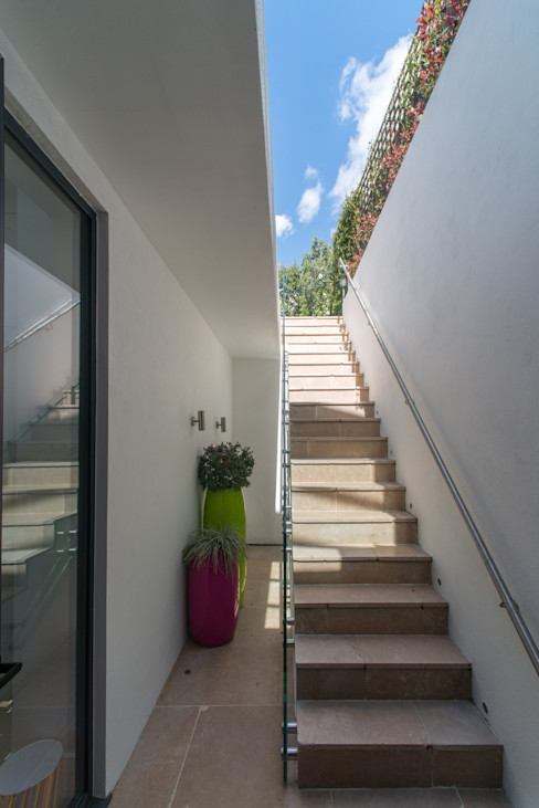 Exterior Basement staircase Hatch Construction Ltd Treppe