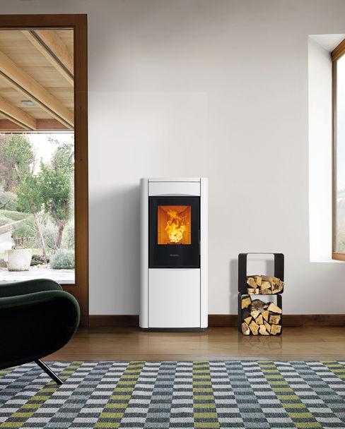 Gruppo Piazzetta S.p.a. Modern living room Ceramic White
