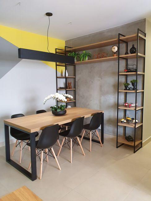 Sala de Jantar JVernill Arquitetura Salas de jantar industriais