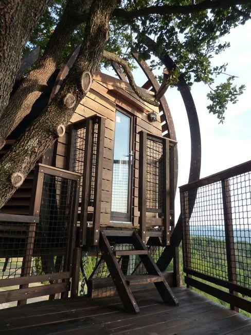 Gli Esterni - Look Out Treehouse Sullalbero Casetta da giardino Legno