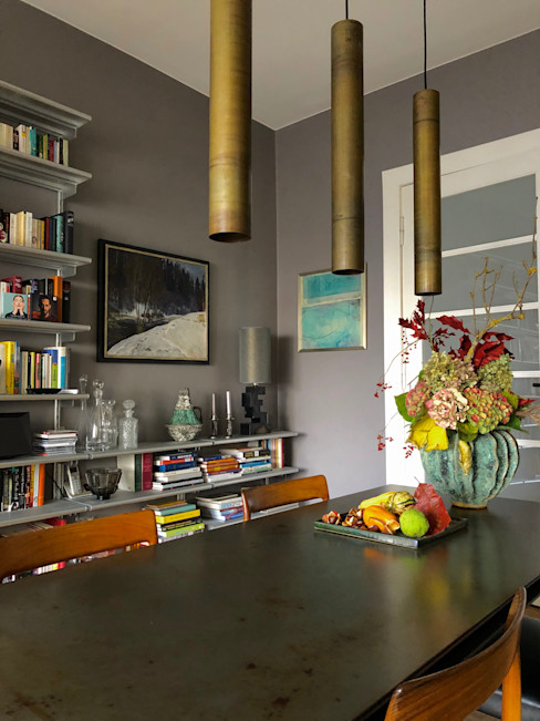 Esszimmer mit Metalltisch harryclarkinterior Ausgefallene Esszimmer Mehrfarbig