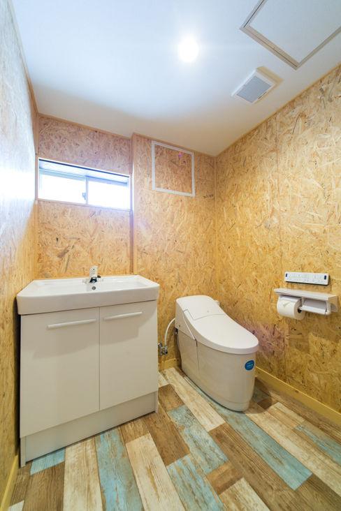 軽井沢別荘建築 ベストプランニング Eclectic style bathroom
