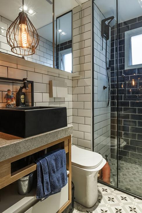 Banheiro Menniti Arquitetura Quartos industriais