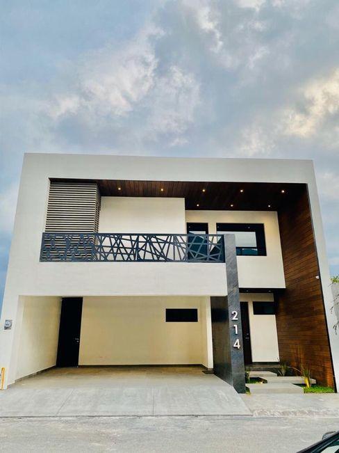 Fachada TRES/OCTAVOS Casas modernas