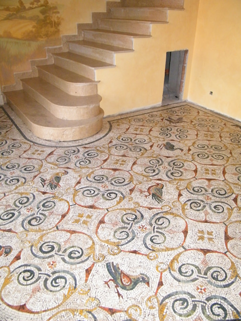 Pavimento policromo La Musa Mosaici Pavimento Metallo