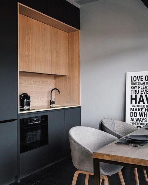 Kitchen HOC DesignArch Pvt Ltd Small kitchens Grey