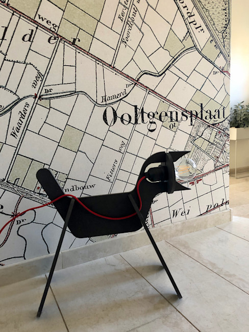 woonboerderij Ooltgensplaat studio SparQ Moderne gangen, hallen & trappenhuizen