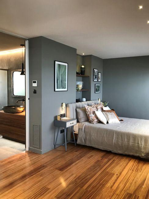 Textiles naturales A interiorismo by Maria Andes Dormitorios de estilo moderno