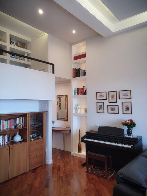 Ingresso-zona living arch. Lorenzo Criscitiello Studio moderno