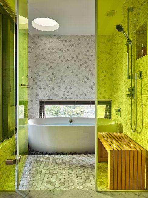 大湖森林室內設計 Vasche idromassaggio Vetro Giallo