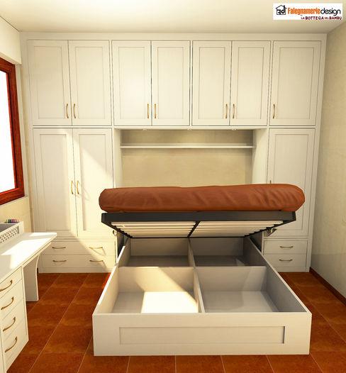 Letto Contenitore su misura Falegnamerie Design Camera da letto in stile classico Legno Beige