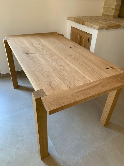 tavolo in rovere il falegname di Diego Storani CucinaTavoli & Sedie Legno massello