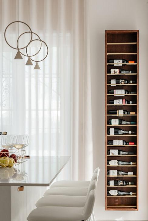 Portabottiglie di vino manuarino architettura design comunicazione Cucina attrezzata Legno Bianco