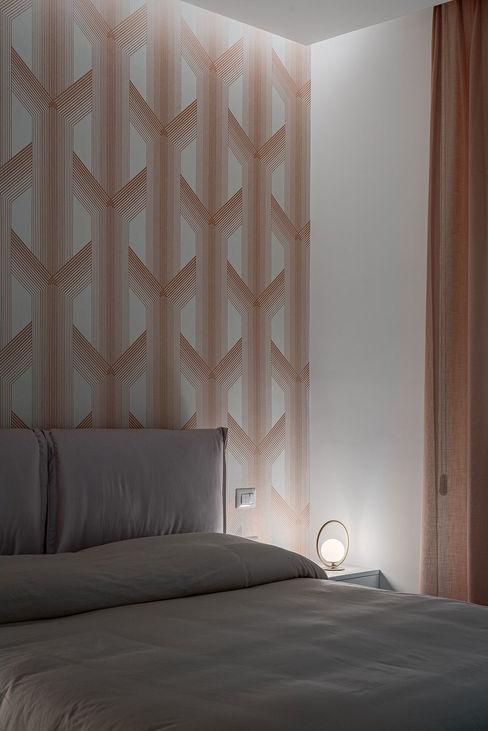 Camera da letto manuarino architettura design comunicazione Camera da lettoIlluminazione Carta Rosa