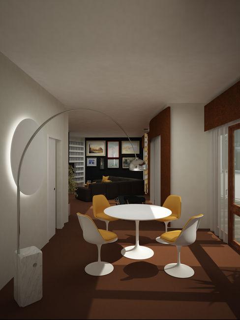 ibedi laboratorio di architettura Modern dining room Granite White