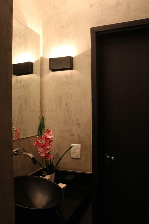 Lavabo seguindo o conceito. Carmela Design Lojas e Espaços comerciais modernos Derivados de madeira Amarelo
