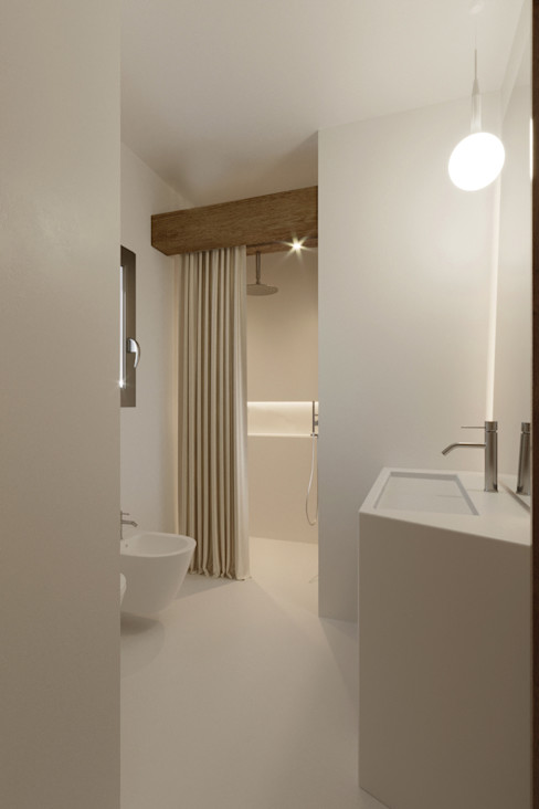 Bagno minimale Architetto Alessandro spano Bagno minimalista