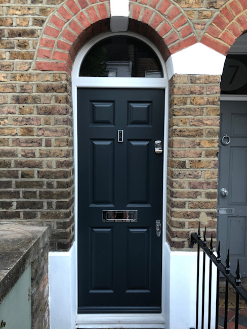 Entrance door Repair A Sash Ltd Front doors Wood Grey