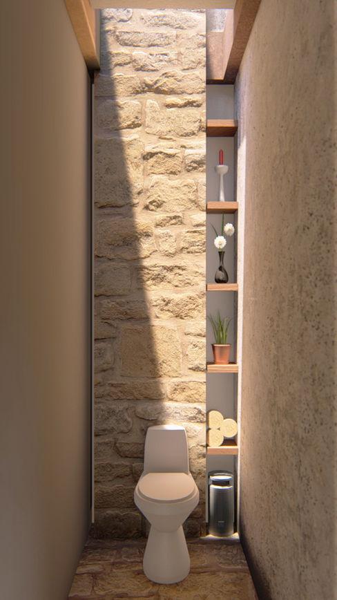 Baño Social CONCEPTUAL ESTUDIO + ARQUITECTURA SAS Baños de estilo rústico