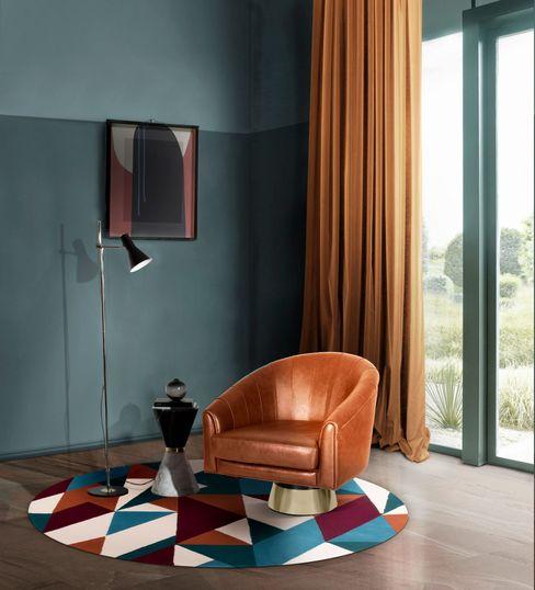 Canto de leitura com mobiliário elegante Essential Home Salas de estar modernas