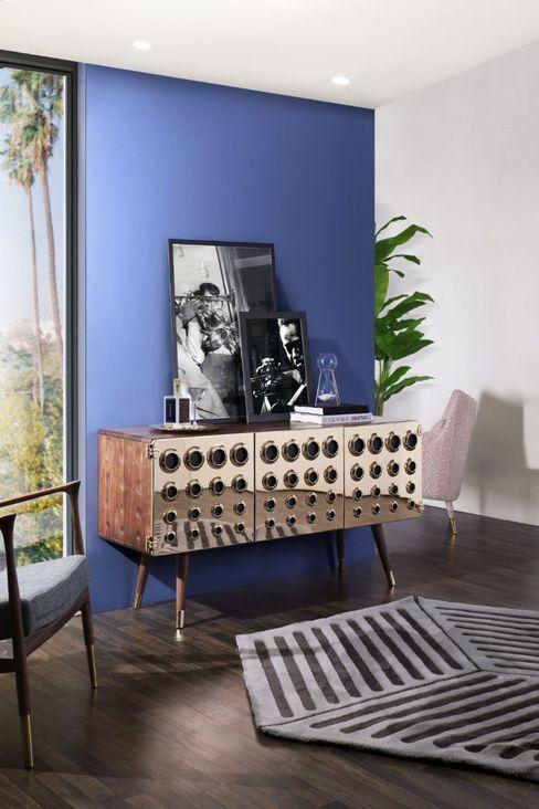 Oggettistica per casa moderna con blu indaco Essential Home Soggiorno moderno Blu