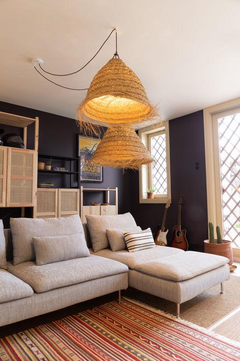 Moradia Boavista - Design de interiores Tangerinas & Pêssegos Tangerinas e Pêssegos - Design de Interiores & Decoração no Porto Salas de estar ecléticas