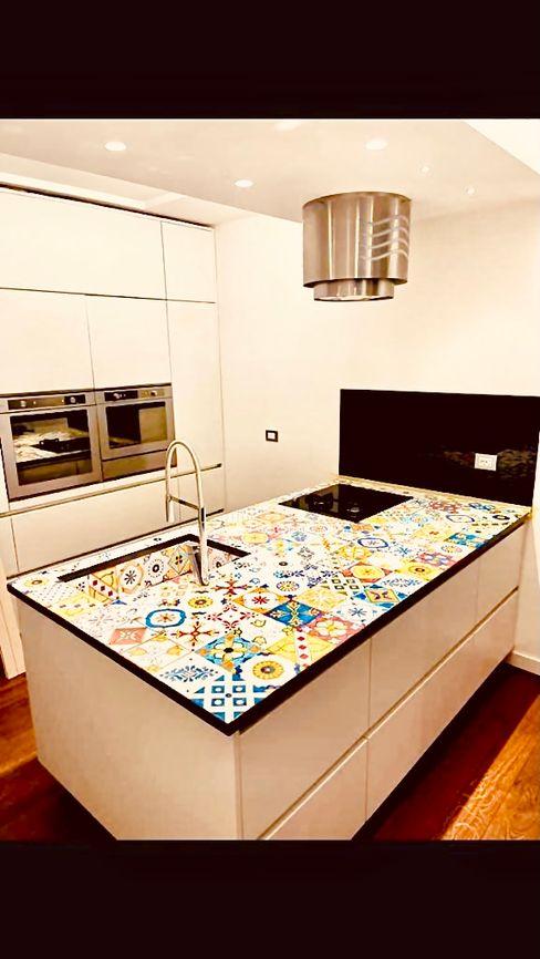 Top e rivestimento cucina Ligama srl Cucina attrezzata Ceramica Variopinto
