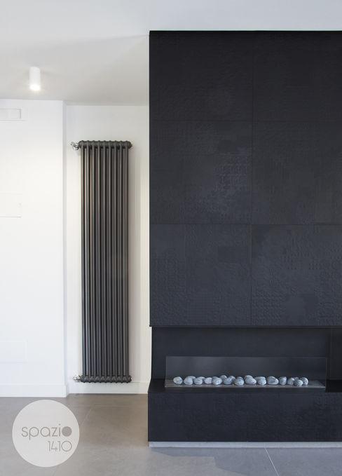 camino a bioetanolo Spazio 14 10 Ingresso, Corridoio & Scale in stile moderno