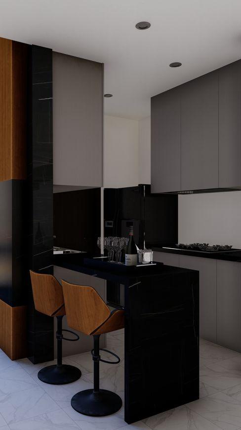 Cocina - Barra HC Arquitecto Cocinas equipadas Cuarzo Negro