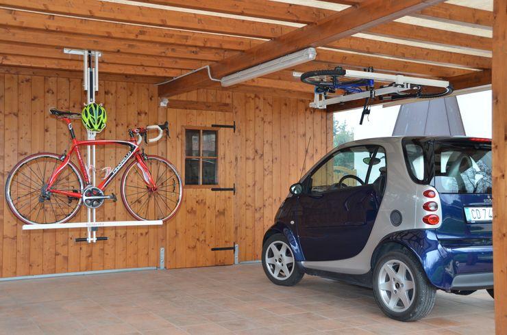 flat-bike-lift Modern garage/shed