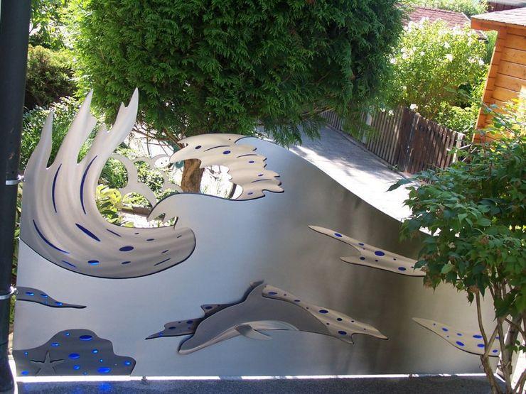 Edelstahl Sichtschutz Edelstahl Atelier Crouse: Moderner Garten