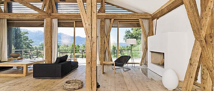 Bauernhof N GALLIST ARCHITEKTEN GmbH Ausgefallene Wohnzimmer