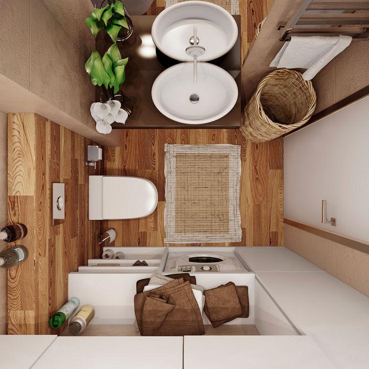 studio apartment Angelina Alekseeva Ванная комната в стиле минимализм