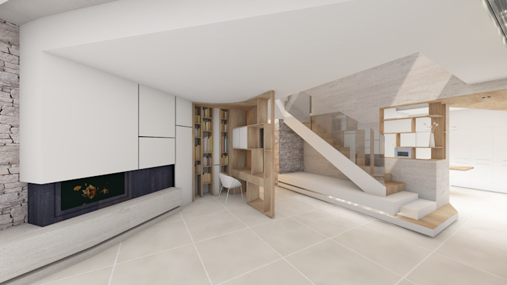 MAAD Architectes Livings modernos: Ideas, imágenes y decoración