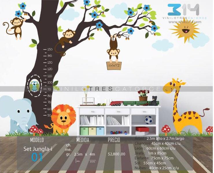 Vinilo314 Moderne Kinderzimmer Plastik Mehrfarbig