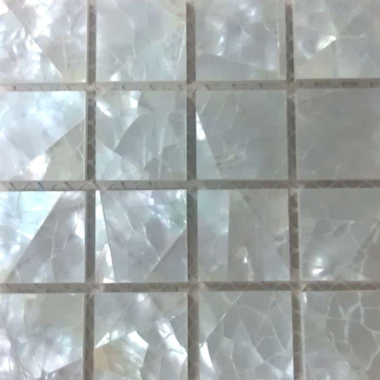 White Lip Crackle Mother of Pearl Mesh-Joint tile ShellShock Designs Walls & flooringTiles