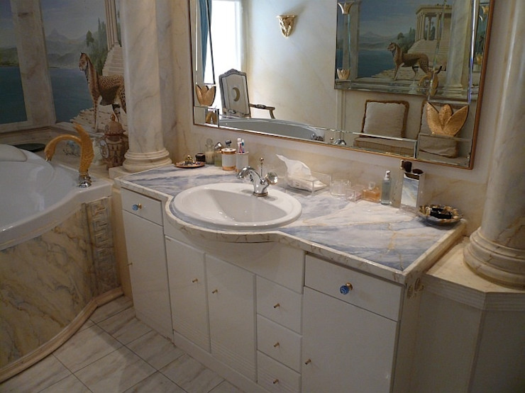 Illusionen mit Farbe Mediterrane badkamers