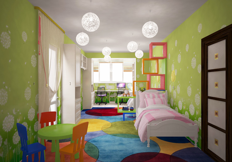 Гурьянова Наталья Habitaciones para niños de estilo moderno