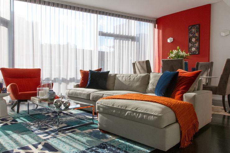 Hells Kitchen Penthouse Bhavin Taylor Design Living room