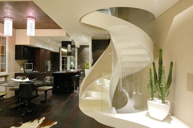 Enrico Muscioni Architect Hành lang, sảnh & cầu thang phong cách hiện đại