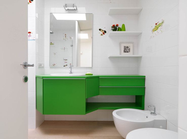 Recupero Sottotetto - Duplex 2 enzoferrara architetti Bagno moderno