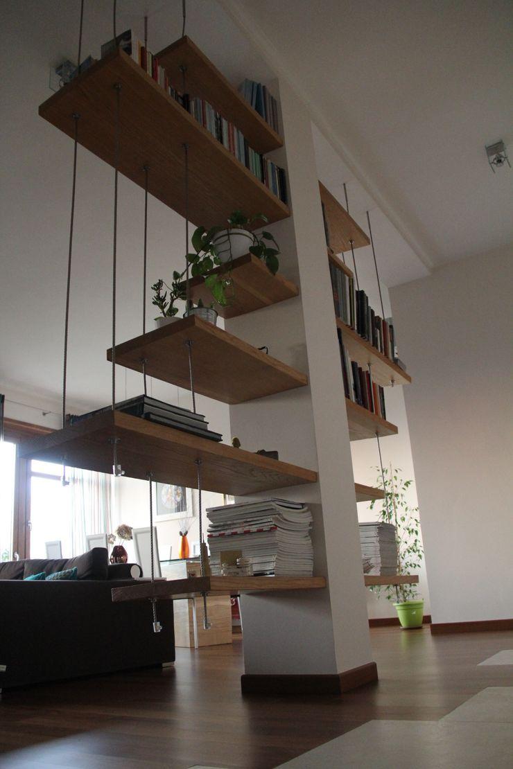 enrico massaro architetto Living roomShelves